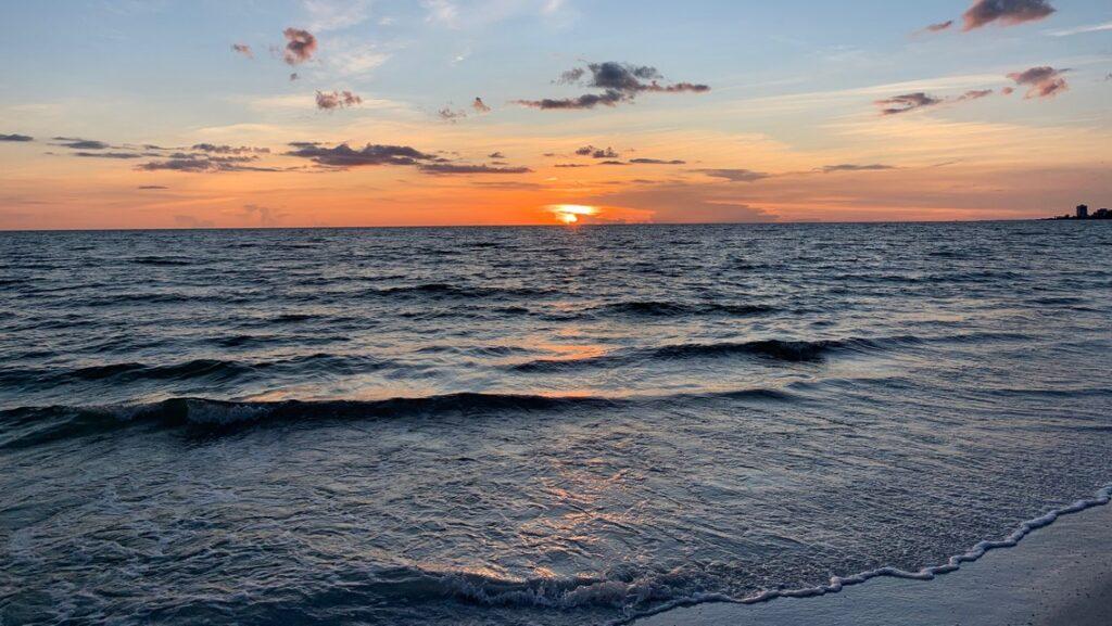 Sunset at Siesta Key Crescent Beach